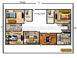 Vastu Model Floor Plans for South DirectionModel Floor Plan for South Direction