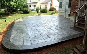 stamped concrete patio. Stamped Concrete Patio E