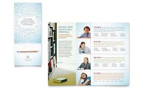 Academic Tutor & School Tri Fold Brochure Template Design