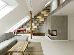 attic interior design. decorating with grey and beige inviting interior design for a modern attic loft n