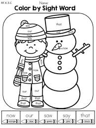 Awesome Winter Sight Word Coloring Pages Teachinrochestercom