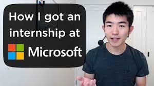 Microsoft Internship Apply How I Got An Internship At Microsoft