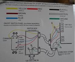 hampton bay ceiling fan wiring
