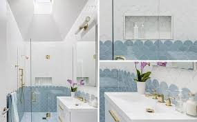 add this blue white and gold bathroom