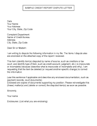Letters To Dispute Credit Sample Credit Report Dispute Letter Creditreporttips Handy Tips