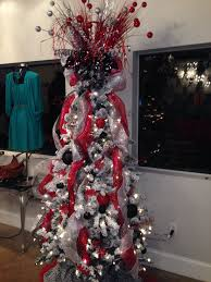 Black, red, and silver Christmas tree!