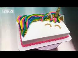 How To Create A Colorful Unicorn Mane On A Unicorn Cake Youtube