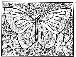 Difficile Grand Papillon Insectes Coloriages Difficiles Pour