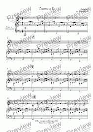 Canon by pachelbel in c pdf and midi notes sheet music: Canon In D Major Pachelbel Piano And Easy Solo Violin Or Other Instrument