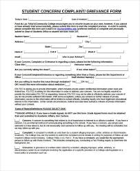Employee Grievance Form Examples Of Grievance Forms