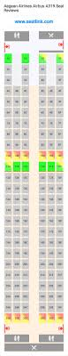 A319 Seating Chart Aegean Airlines Airbus A319 Seating Chart Updated December