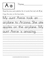 Read And Write A Story Manuscript Handwriting Exercises Tpt