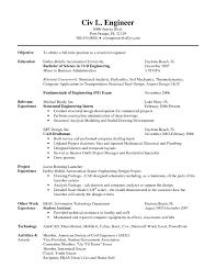 Chemical Engineering Resume Templates Free Sample Civil Engineering