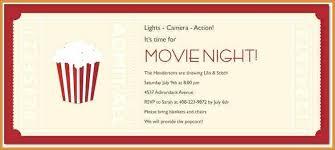 Movie Ticket Invite Ate Free Invitation Night On Baseball Ideas