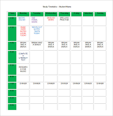 homework planner template pdf homework schedule templates 13 free word excel pdf format