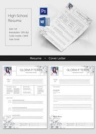 High School Graduate Resume Template Custom Classic High School Resume Cover Letter Template Free Premium
