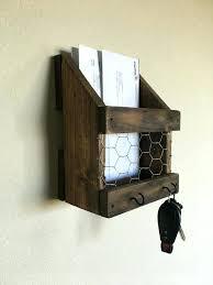impressive key holder for wall letter holder wall mount mail and key holder rustic mail and