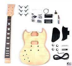 left handed sg style diy mahogany build your own guitar kit kbg sg mmtl zoom