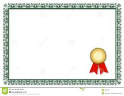 blank certificates blank certificate stock vector illustration of certificate 962092
