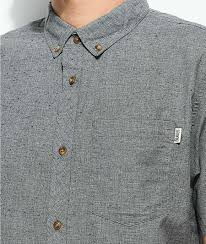 Dravus Mens Shirts   Alvin Jasper Heather Grey Short Sleeve Button ...
