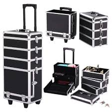 yaheetech rolling 4 in 1 makeup case cosmetic trolley