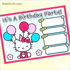 Hello Kitty Printable Birthday Card Free Hello Kitty