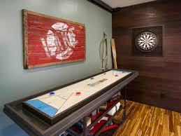 room details diy cabinet tree stump table stone fireplace closeup diy bc family room game corner dartboard shuff