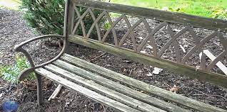 how to replace garden bench slats