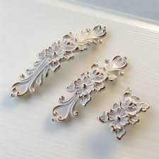 furniture handles. shabby chic dresser drawer pulls handles off white gold / french country kitchen cabinet handle pull furniture r