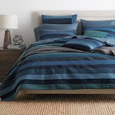 Weston Stripe Quilt | The Company Store & Weston Navy Stripe Quilt / Sham ... Adamdwight.com