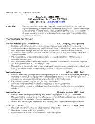 Resume Event Planner Resume Sample