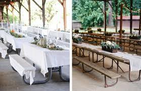 picnic wedding reception. 14 Picnic Table Ideas for Your Reception Alexan Events Denver