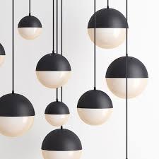 pendant lighting cedar and moss globe black 3d model max obj mtl 3
