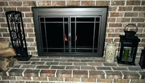 painting fireplace doors black