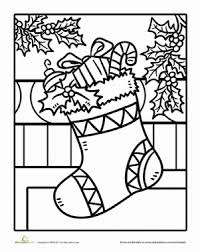 Small Picture Christmas Stocking Worksheet Educationcom