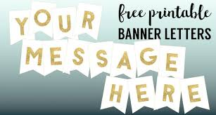 Birthday Banner Letter Template Gold Free Printable Banner Letters