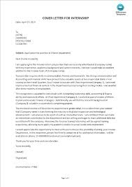 How To Make A Cover Letter For Internship Cover Letter For Finance Internship Templates At