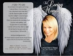 Angel Single Fold Memorial Program Funeral Pamphlets