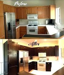 dark stained kitchen cabinets. Dark Stained Kitchen Cabinets Painting Over Staining Maple Darker W