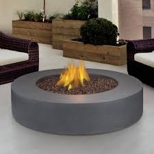 real flame mezzo 42 inch round propane gas fire pit table flint gray