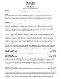 Ideas Of Cisco Certified Network Engineer Sample Resume With