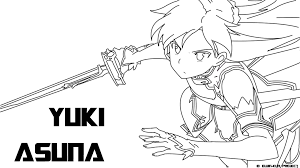 Small Picture Sword Art Online Coloring Pages Coloring Coloring Pages