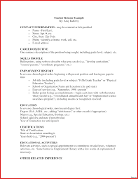 Example Of Teacher Resume Early Childhood Education Resume Examples Stunning Teacher Special 38