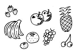 Kleurplaat Fruit Afb 12300 Images