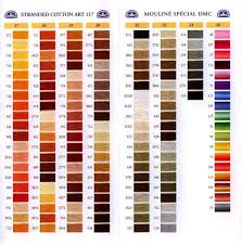 26 Paradigmatic Dmc Embroidery Threads Colour Chart