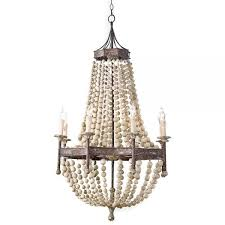 captivating chandeliers at target 7 wood bead chandelier diy pottery barn francesca beaded white