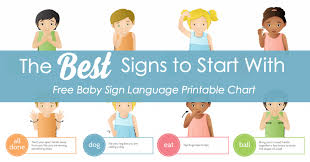 Sign Language Chart Printable Baby Sign Language Best Signs To Start With