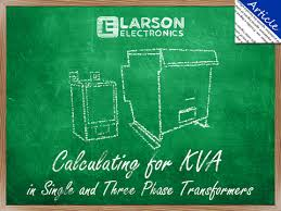 Generator Kva To Amps Chart Calculating For Kva In Single And Three Phase Transformers