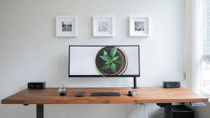diy dream desk setup clean modern wood design