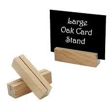 large oak card stand